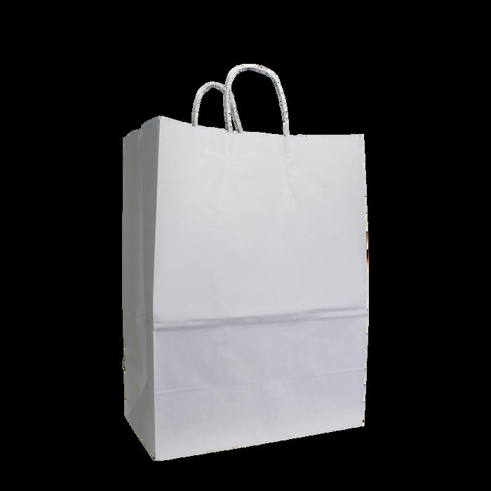 White Large White Paper Shopper Bag