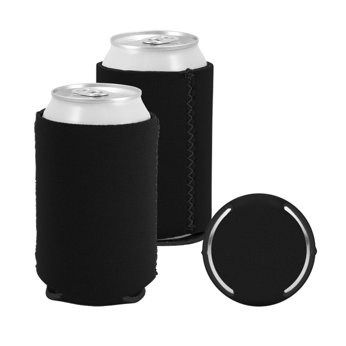 Black Premium Collapsible Neoprene Koozie
