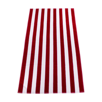 Red Latitude Striped Beach Towel Thumb