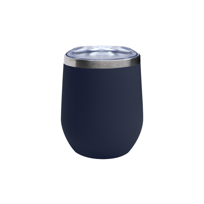 Matte Navy Vacuum Insulated Stemless Wine Tumbler