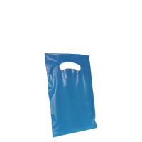 Blue Extra Small Eco-friendly Die Cut Plastic bag Thumb