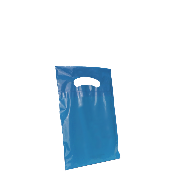 Blue Extra Small Eco-friendly Die Cut Plastic bag