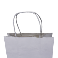 Extra Small White Paper Shopper Bag Thumb