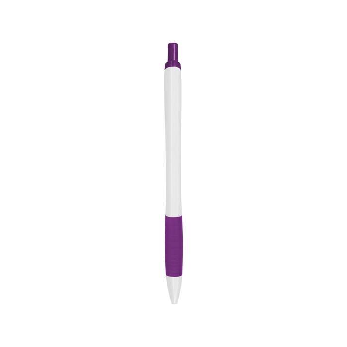Purple with Black Ink Soft Grip Pen