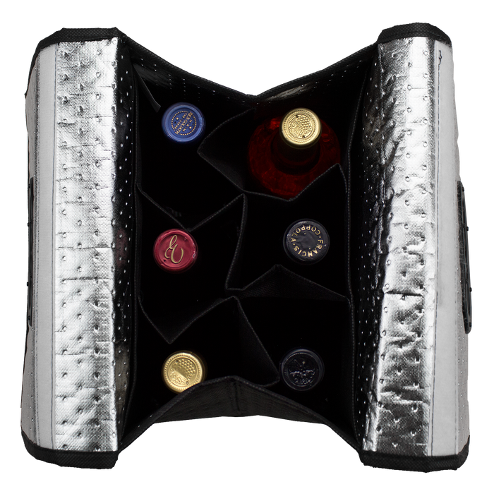 Insulated 6 Bottle Wine Tote