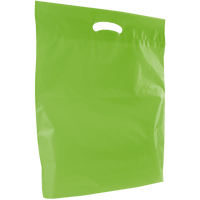 Lime Large Eco-Friendly Die Cut Plastic Bag Thumb