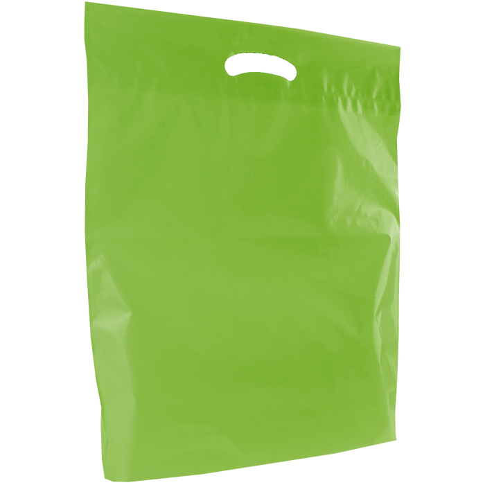 Lime Large Eco-Friendly Die Cut Plastic Bag