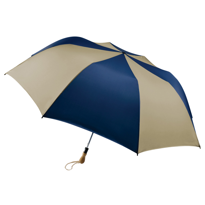 Navy/Tan Leo Umbrella