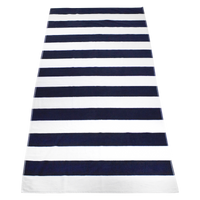 Navy Santa Maria Striped Beach Towel Thumb