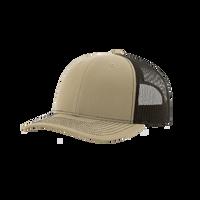 Khaki/Coffee Richardson Trucker Snapback Hat Thumb