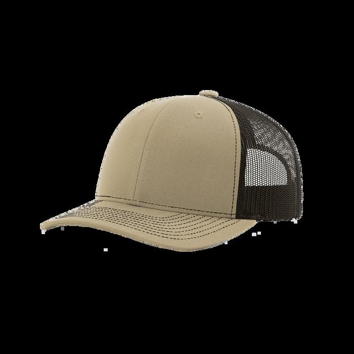 Khaki/Coffee Richardson Trucker Snapback Hat