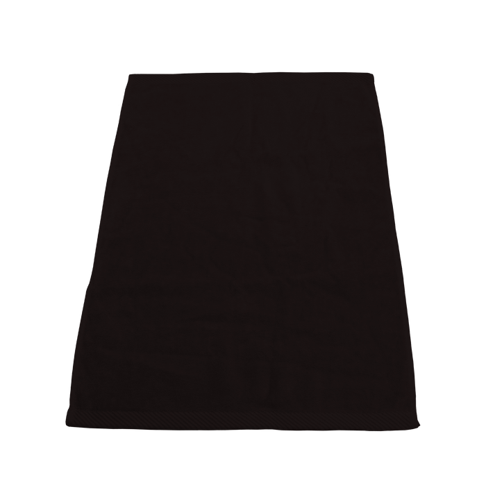 Black Ultraweight Colored Fitness Towel