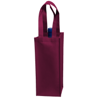 Burgundy Single Bottle Wine Tote Thumb