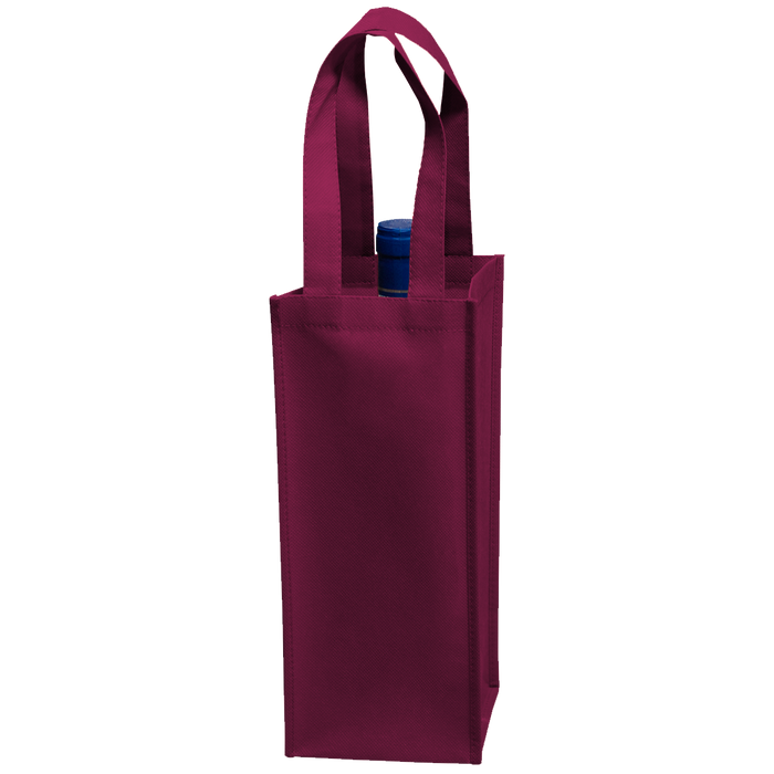 Burgundy Single Bottle Wine Tote