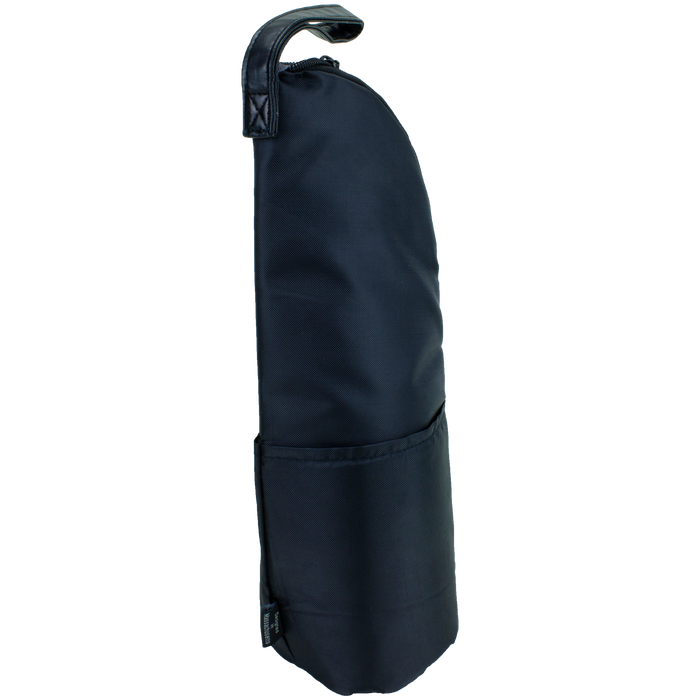Black Insulated 1 Bottle Wine Bag