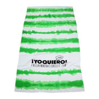 Tie-Dye Striped Beach Towel