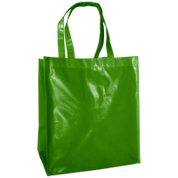 Lime Green Laminated Big Storm Grocery Bag Thumb