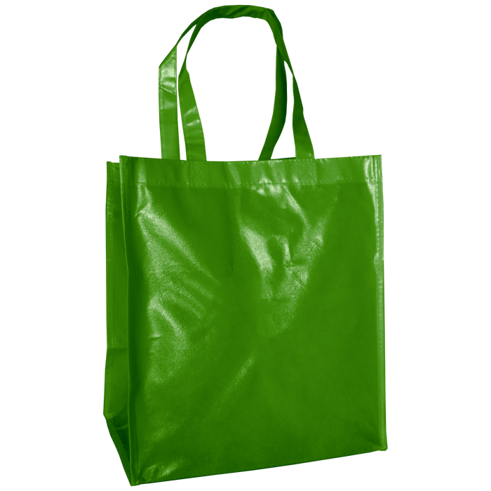 Lime Green Laminated Big Storm Grocery Bag