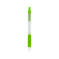 Lime Green with Black Ink Frosted Barrel Pen Thumb