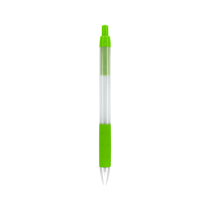 Lime Green with Black Ink Frosted Barrel Pen
