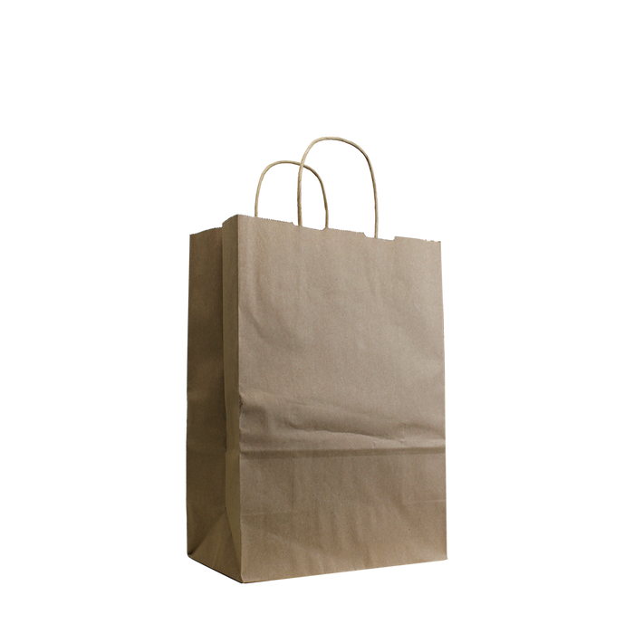 Natural Small Kraft Paper Shopper Bag
