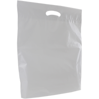 Frosted Clear Large Eco-Friendly Die Cut Plastic Bag Thumb