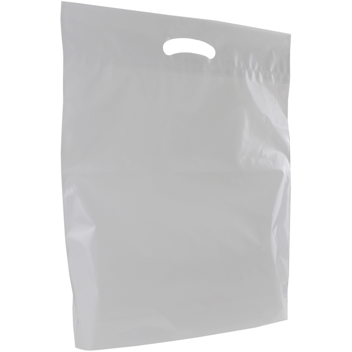 Frosted Clear Large Eco-Friendly Die Cut Plastic Bag