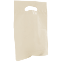 Ivory Small Recyclable Die Cut Plastic Bag Thumb