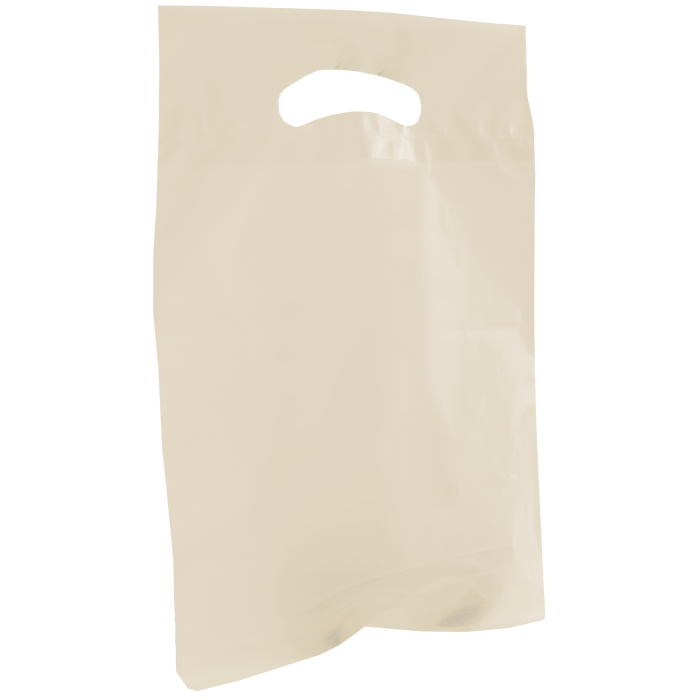 Ivory Small Recyclable Die Cut Plastic Bag