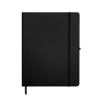 Black Large Soft Faux Leather Journal Thumb
