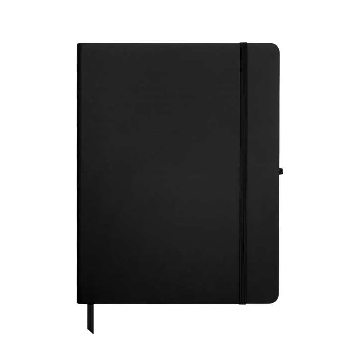 Black Large Soft Faux Leather Journal