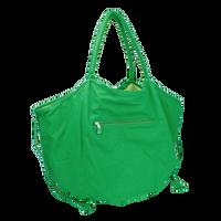 Kelly Green Tropical Reversible Beach Bag Thumb