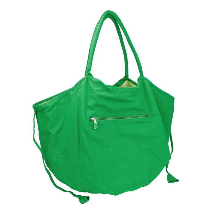 Kelly Green Tropical Reversible Beach Bag