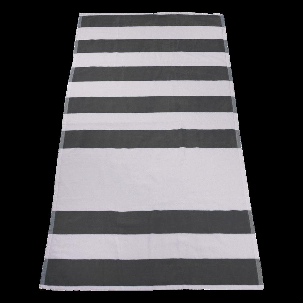 blank white beach towel. Grey Horizon Striped Beach Towel Blank White