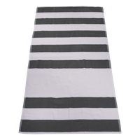 Grey Horizon Striped Beach Towel Thumb