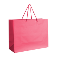 Pink Medium Matte Shopper Bag Thumb