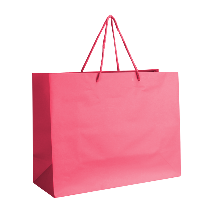 Pink Medium Matte Shopper Bag