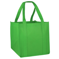 Lime Green Cube Grocery Tote Thumb