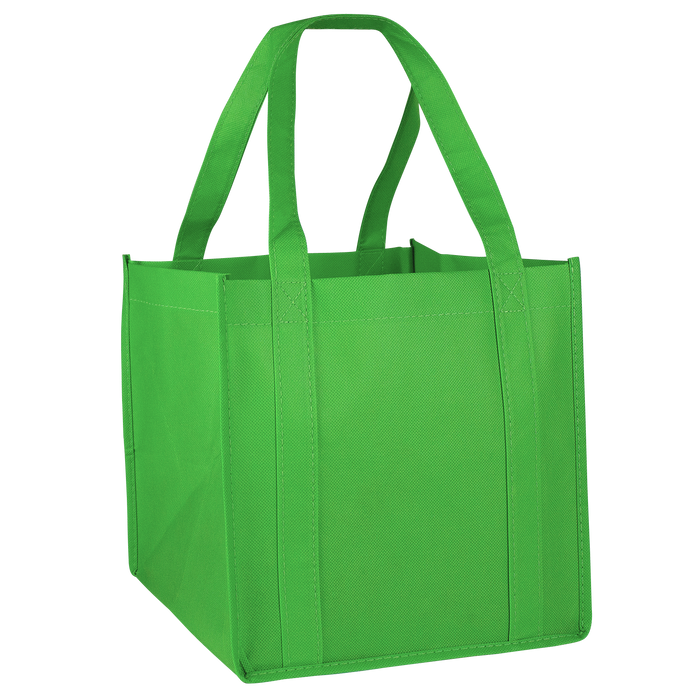 Lime Green Cube Grocery Tote