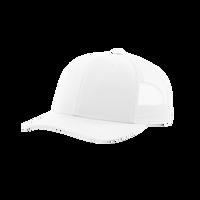 White Richardson Trucker Snapback Hat Thumb