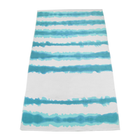 Turquoise Tie-Dye Striped Beach Towel Thumb