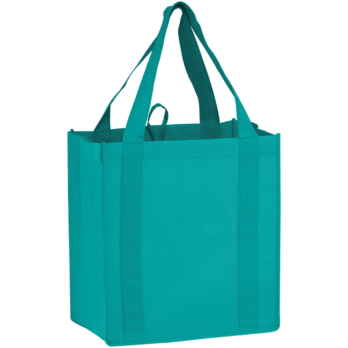 Teal Little Storm Grocery Bag
