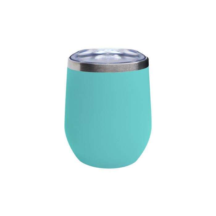 Matte Mint Vacuum Insulated Stemless Wine Tumbler
