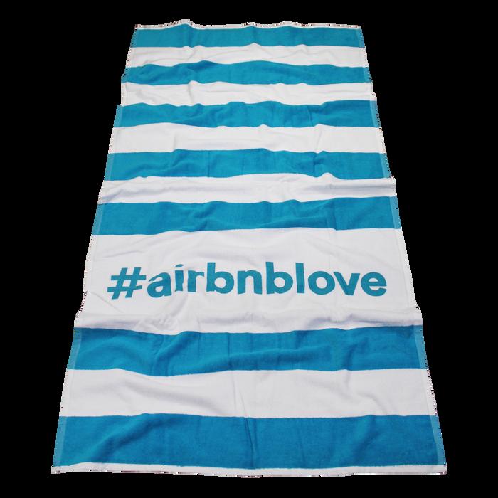 Beach Blanket Logo: Horizon Striped Beach Towel