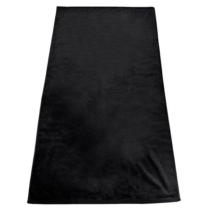 Black Gypsea Color Beach Towel