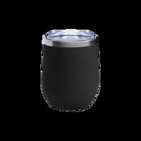 Matte Black Vacuum Insulated Stemless Wine Tumbler Thumb