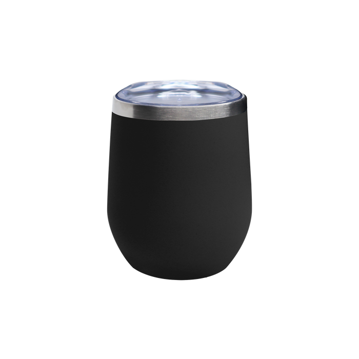Matte Black Vacuum Insulated Stemless Wine Tumbler