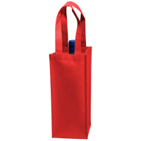 Red Single Bottle Wine Tote Thumb