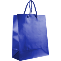 Royal Blue Small Glossy Shopper Bag Thumb