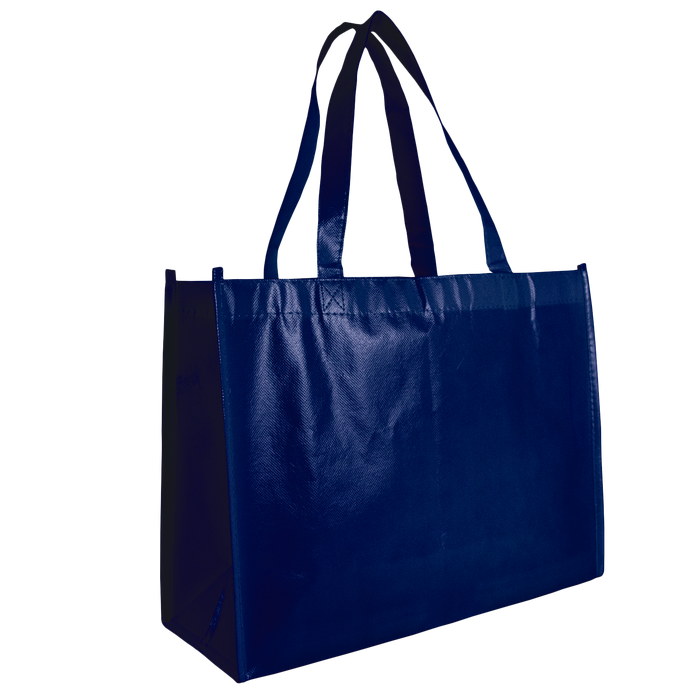 Navy Blue Laminated Convention Tote
